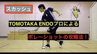 【ボレーショット】遠藤プロのスカッシュ攻略法