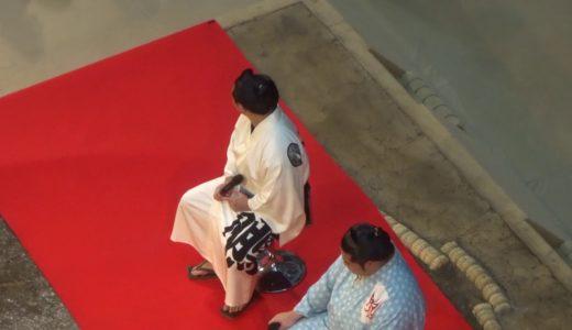 【大相撲 KITTE場所】炎鵬と遠藤の力士トークショー 令和元年 はっきよい KITTE  取り組みを3階の無料観覧席から撮影 巡業 2019/08/25